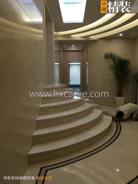 欧式地面石材拼花 石材楼梯踏步