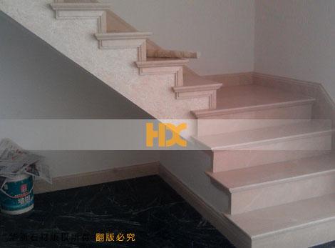 大理石楼梯踏步 弧形石材楼梯