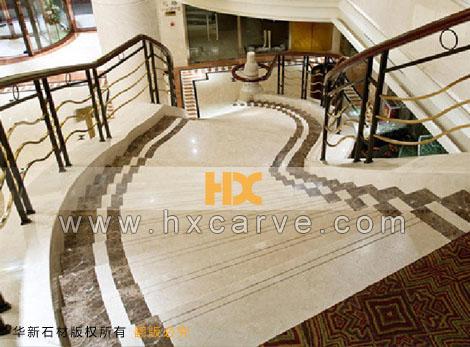 天然石材楼梯 大理石楼梯踏步 弧形石材楼梯 石材台阶