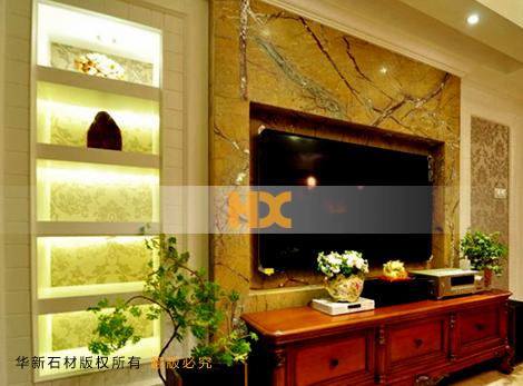石材背景墻 客廳石材電視墻
