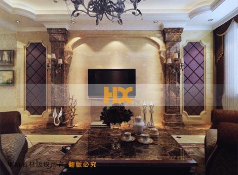 石材背景墙 客厅石材电视墙