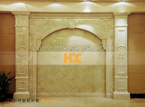 石材背景墙 欧式石材电视墙